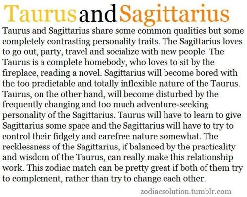 Sagittarius compatible with taurus