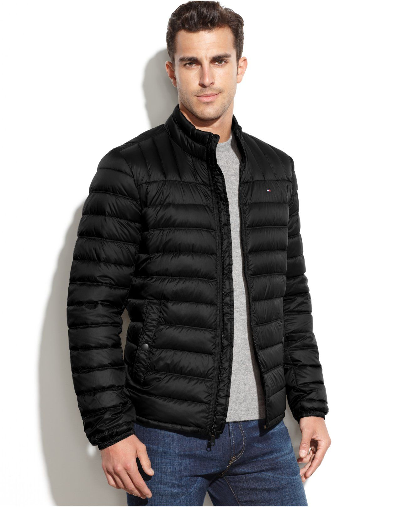 Tommy Hilfiger Quilted Packable Down Puffer Coats Jackets Ropa Moda Hombres