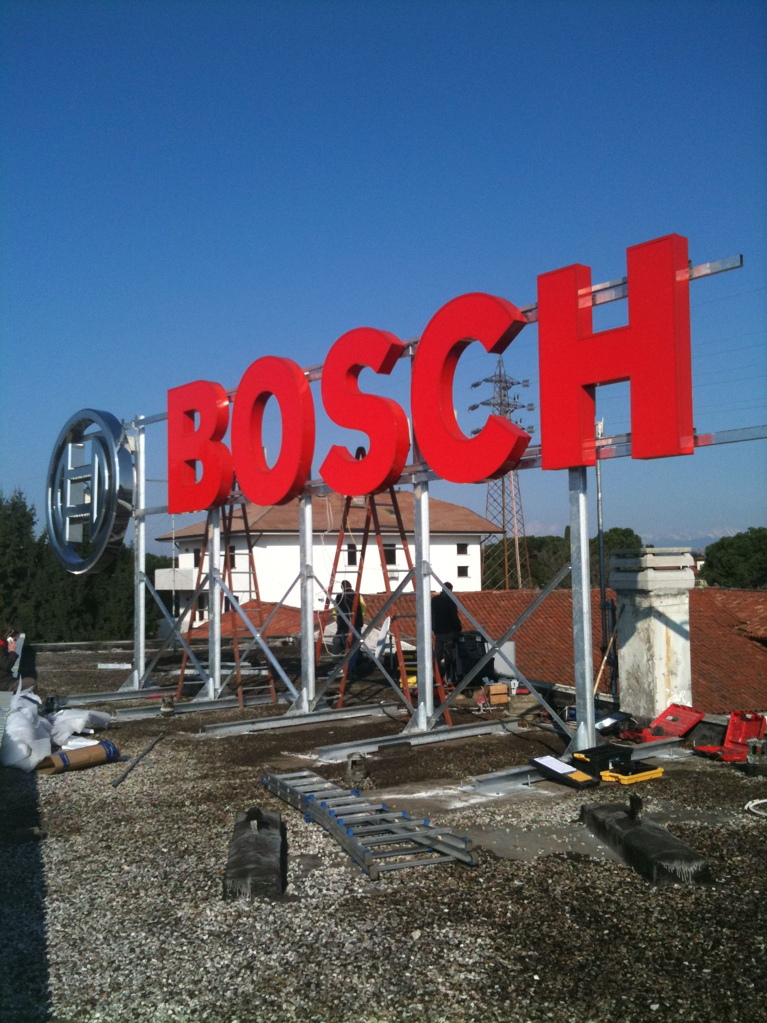 Bosch Roof Sign Led Signage Neon Signs Office Signs
