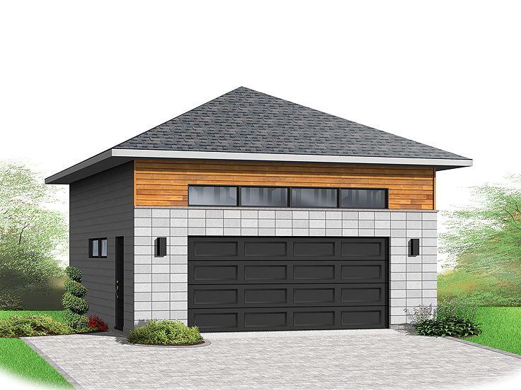 Moder Garage Plan 028g 0056 Garage Apartments Garage Plans Hip Roof