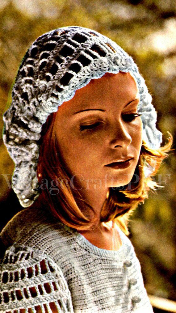 Wedding Dress Crochet Pattern Vintage 1970s Sundress Hat