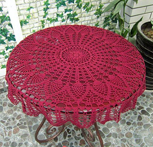 Ustide Hansenne Style Small Round Table Cloth Handmade Crochet Tablecloth  Weddings Lace Tablecloth Pro Environment