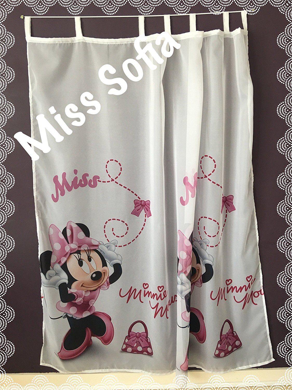 Schöne Gardine mit Minnie Mouse Motiv. Tolle Dekoration für ...