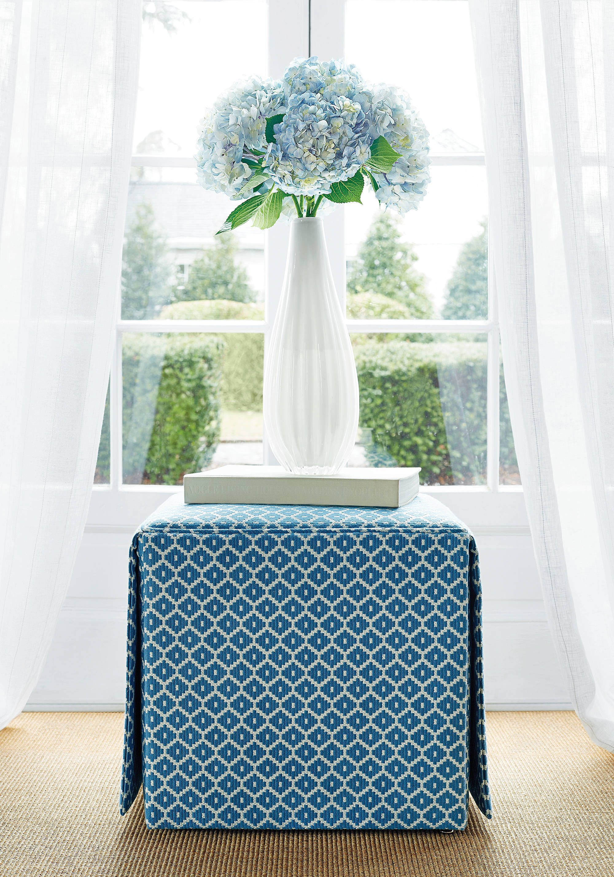 Fair and Square Ottoman from Thibaut Fine Furniture in Mayan