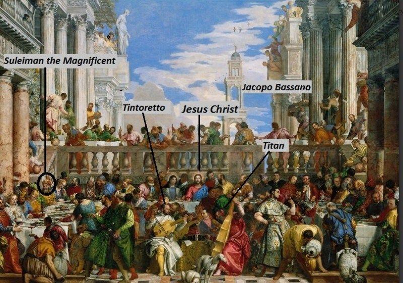 Who Is This Man In The Wedding At Cana Veronese Pinacotheca Kunstdruck Renaissance Kunst Kunstproduktion