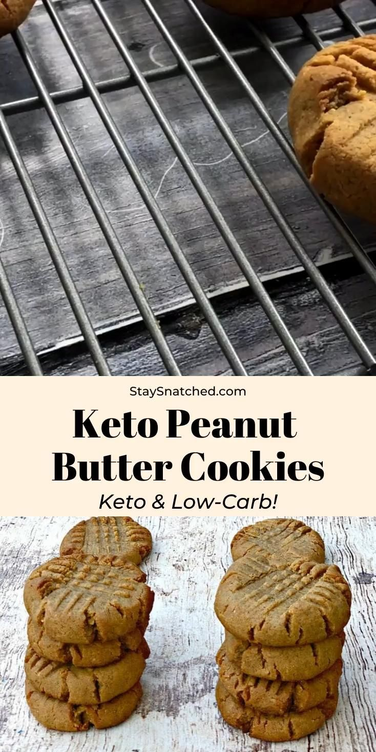 Keto Low-Carb 4 Ingredient Peanut Butter Cookies is a quick and easy, dairy-free, paleo, and gluten-free recipe.  These cookies are low-calorie and have 100 calories and 1 gram of net carbs! No almond flour is needed for this sugar-free treat. This dessert is perfect for ketosis and the ketogenic diet.