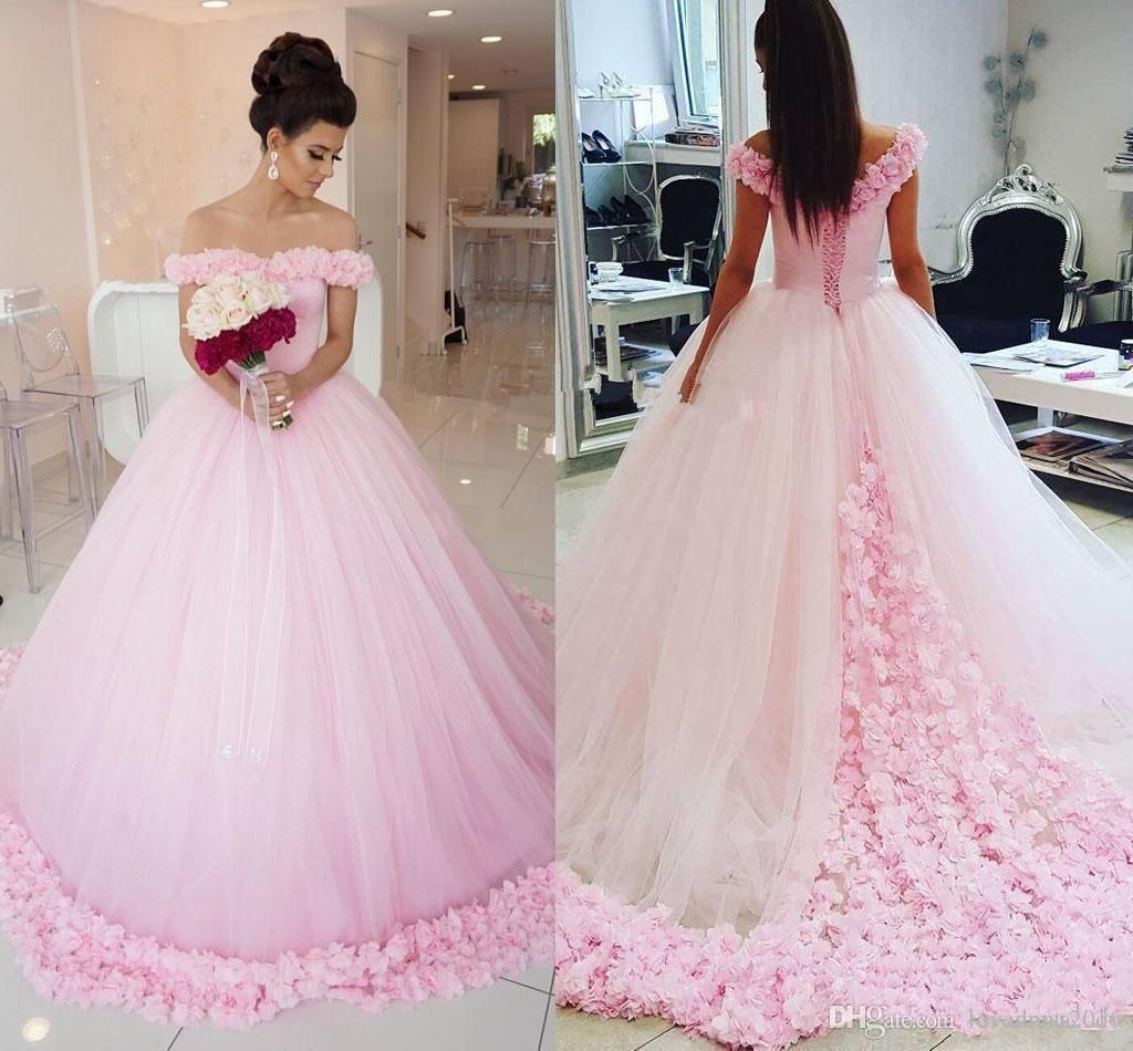 quinceanera dresses off shoulder with handmade flowers lace up