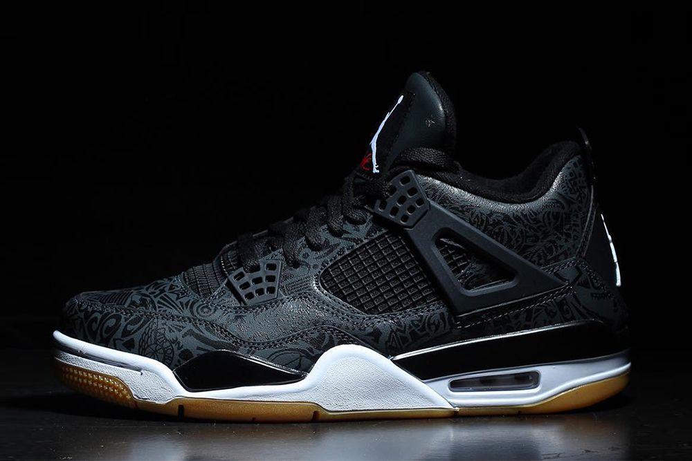 Dokladne Zdjecia Butow Air Jordan 4 Black Laser Jordan 4 Black Air Jordans Jordans