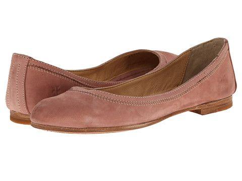 Frye Carson Ballet Women's Flat Shoes Dusty Rose Buffed Nubuck : 8 B -  Medium