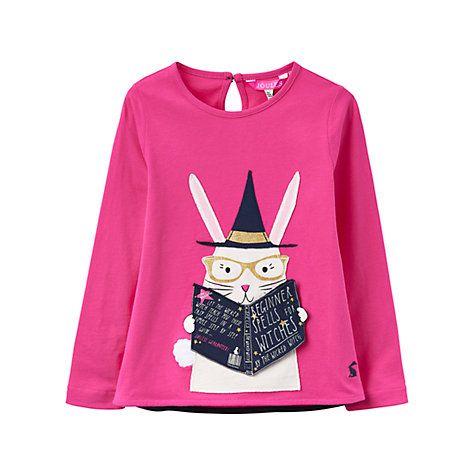 3238c89bc6 Buy Little Joule Girls  Rabbit Applique T-Shirt