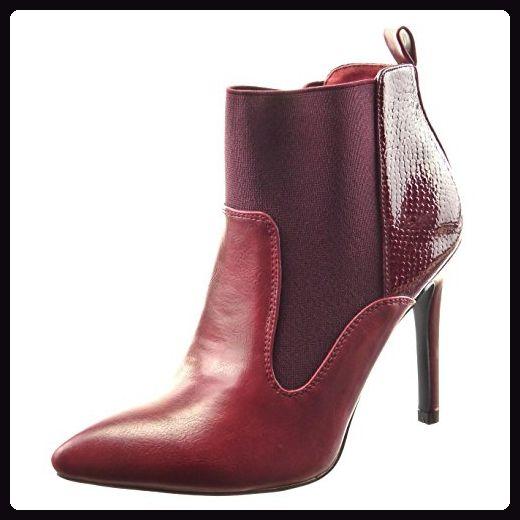 Boots Stiefeletten Sopily Chelsea Low Mode Damen Schuhe WED2IHY9