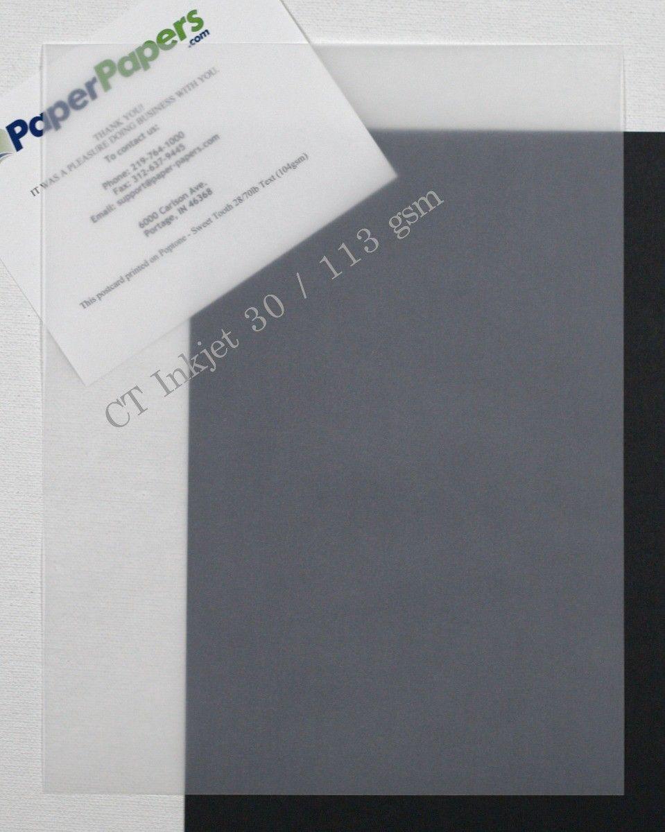 Ct Clear Inkjet Translucent Vellum 8 5 X 11 Paper 500 Pk In