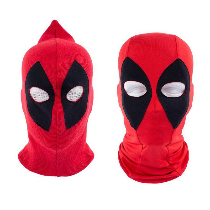 Deadpool cap Halloween Deadpool mask Cosplay hats Balaclava face Red ...