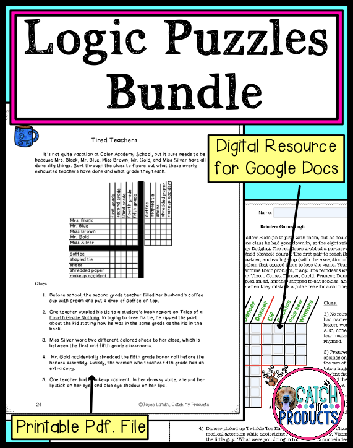 medium resolution of Digital Logic Puzzles for 4th Grade or 5th Printable Puzzles or Google Docs  Mega   Kids critical thinking