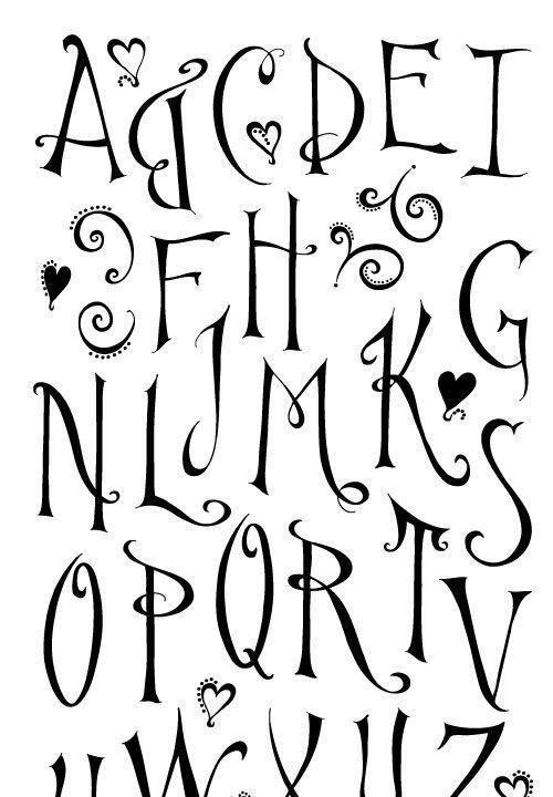 7 tipos de letras handlettering alphabet pinterest for Formas de letras para cumpleanos