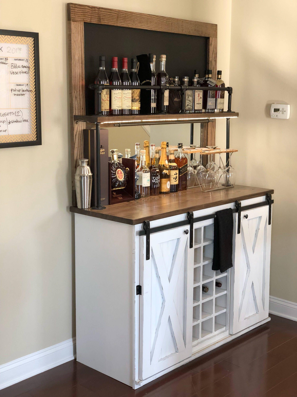 Weston Chalkboard Beverage Bar   Etsy   Bars for home, Bar ...