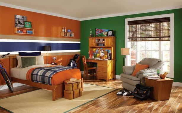 Traditional Sports Kids Bedroom Paint Ideas for Boys cool paint