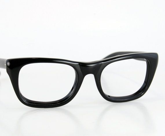 282575ca591f Vintage 50s Men Thick Black Horn Rim Cat Eye Glasses by thenovelty ...