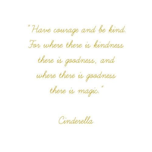 My Fav Quote Have Courage And Be Kind For Where There Is