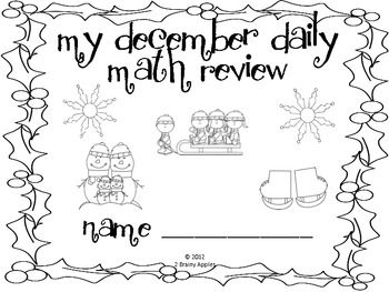 Math Morning Work 2nd Grade December Editable