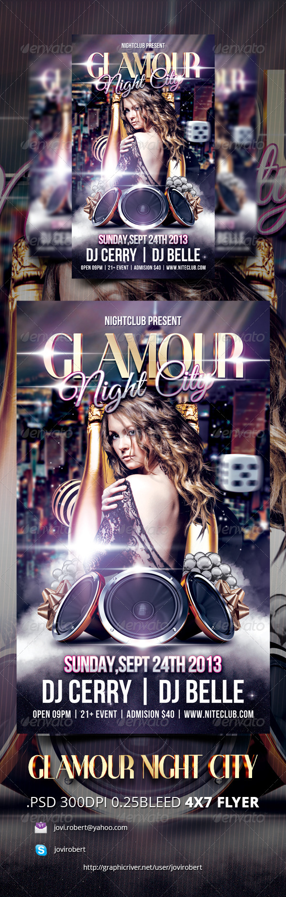 Glamour Night City Night city, City, Cmyk color