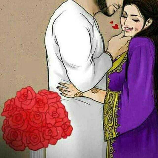 رسومات حب Girly M Muslim Photos Art