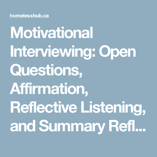 motivational interview questions