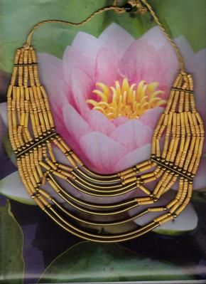 Necklace Yellow wood and Brass Free Shipping  $25.00