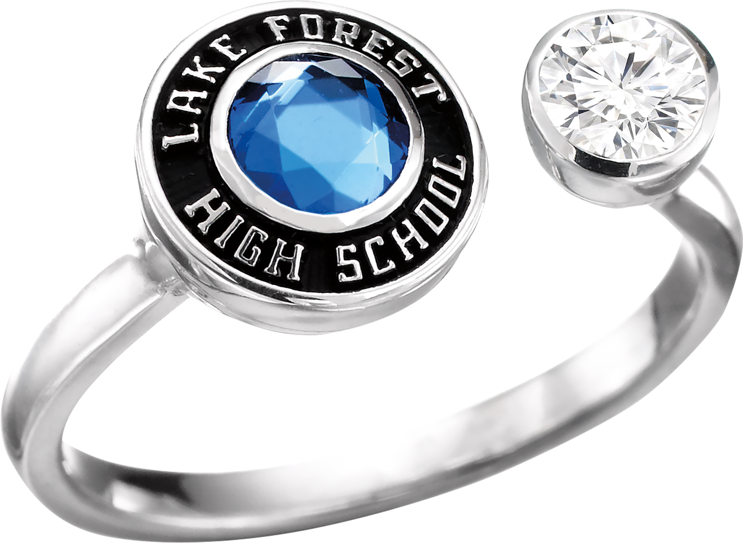 New Luxe Side By Side L28 Class Rings High School Engagement Rings High School Classes