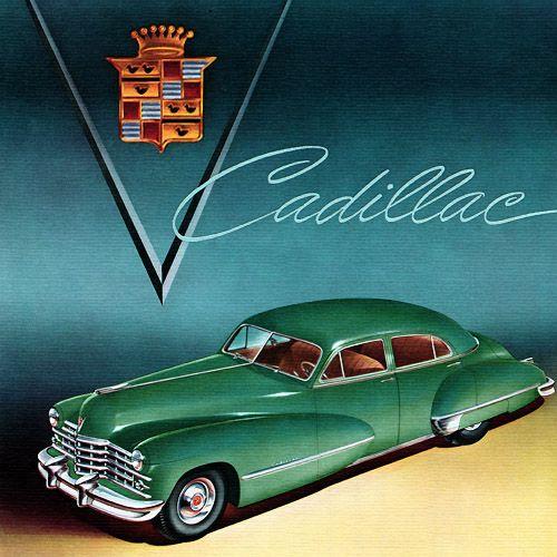 Plan59 :: Classic Car Art :: Vintage Ads :: 1947 Cadillac Fleetwood