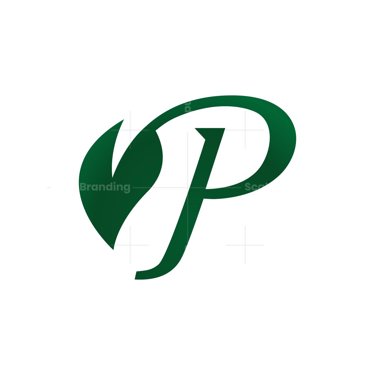 Leaf Letter P Logo P Logo Design Logo Design Logo Design Creative