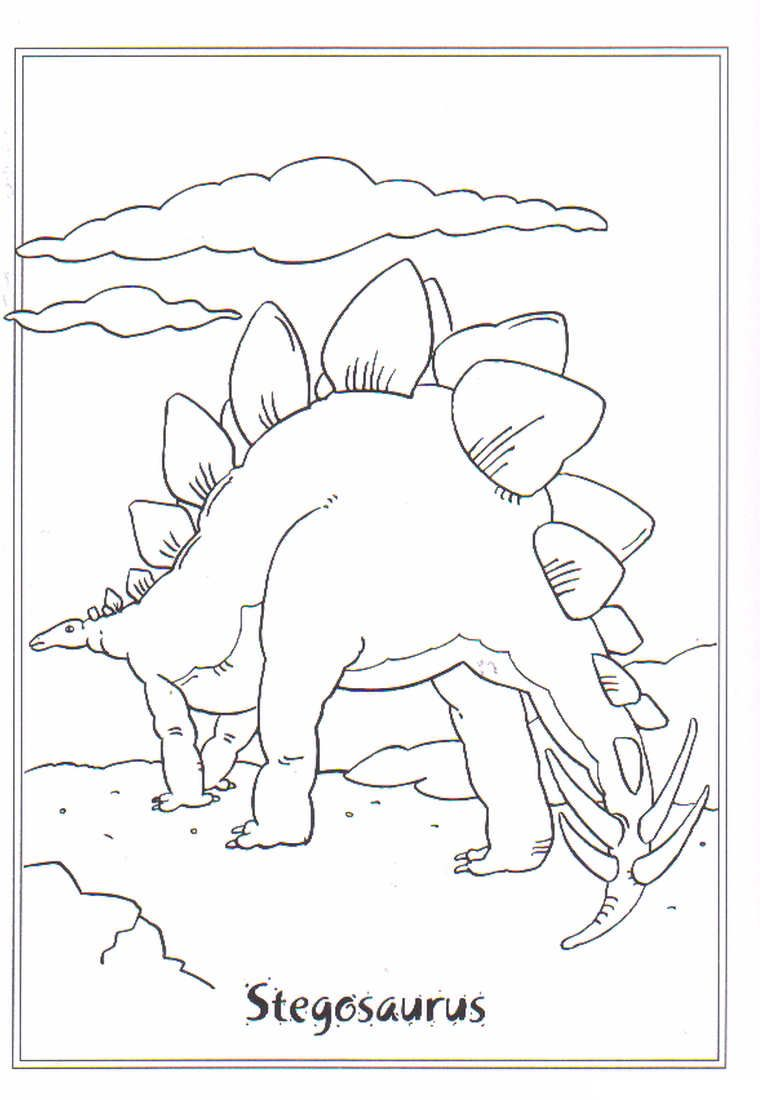 coloring page Dinosaurs 2 - stegosaurus | A Template | Pinterest ...