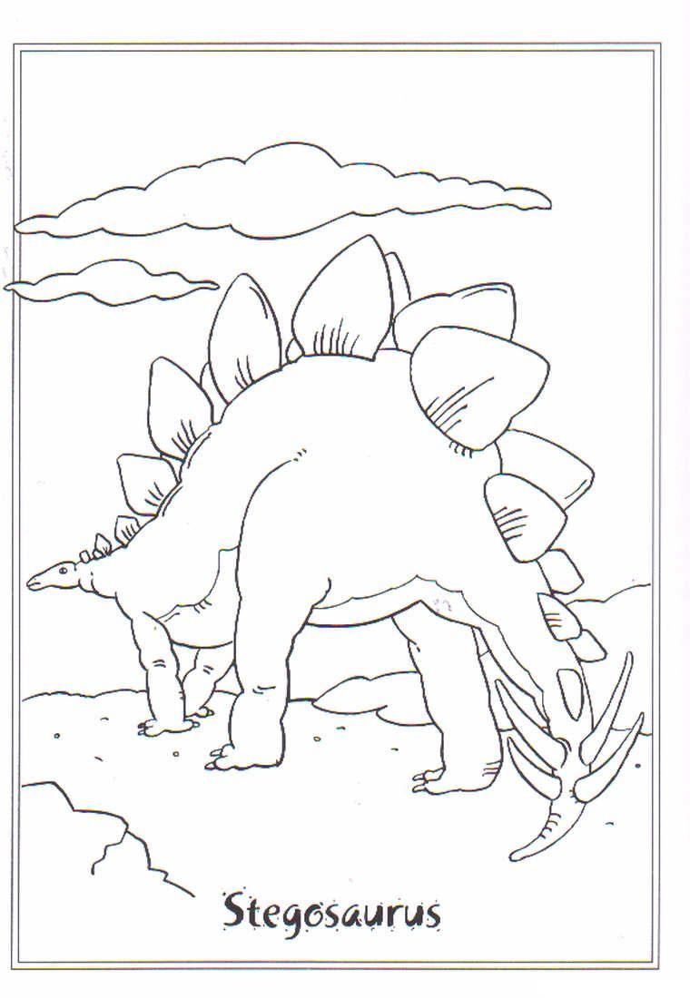 Kids N Fun Ausmalbild Dinosaurier 2 Stegosaurus Mandala