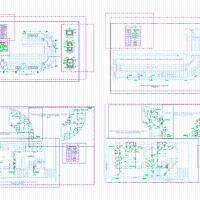 Instalaciones sanitarias de una piscina semiolimpica dwg for Detalles constructivos de piscinas