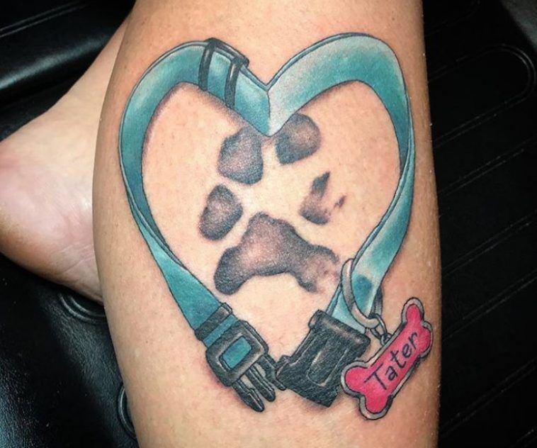 50 Best Dog Memorial Tattoo Ideas Page 5 Of 12 The Paws Dog Memorial Tattoos Memorial Tattoos Paw Tattoo