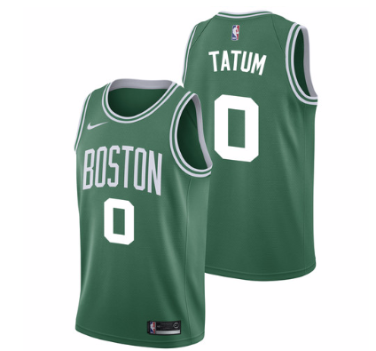 official photos 2abba 0329f Men 0 Jayson Tatum Jersey Green Boston Celtics Jersey ...