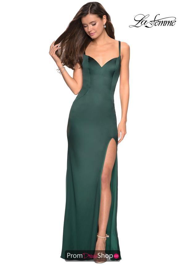 9c8605bf502 La Femme Open Back Fitted Dress 27617 in 2019