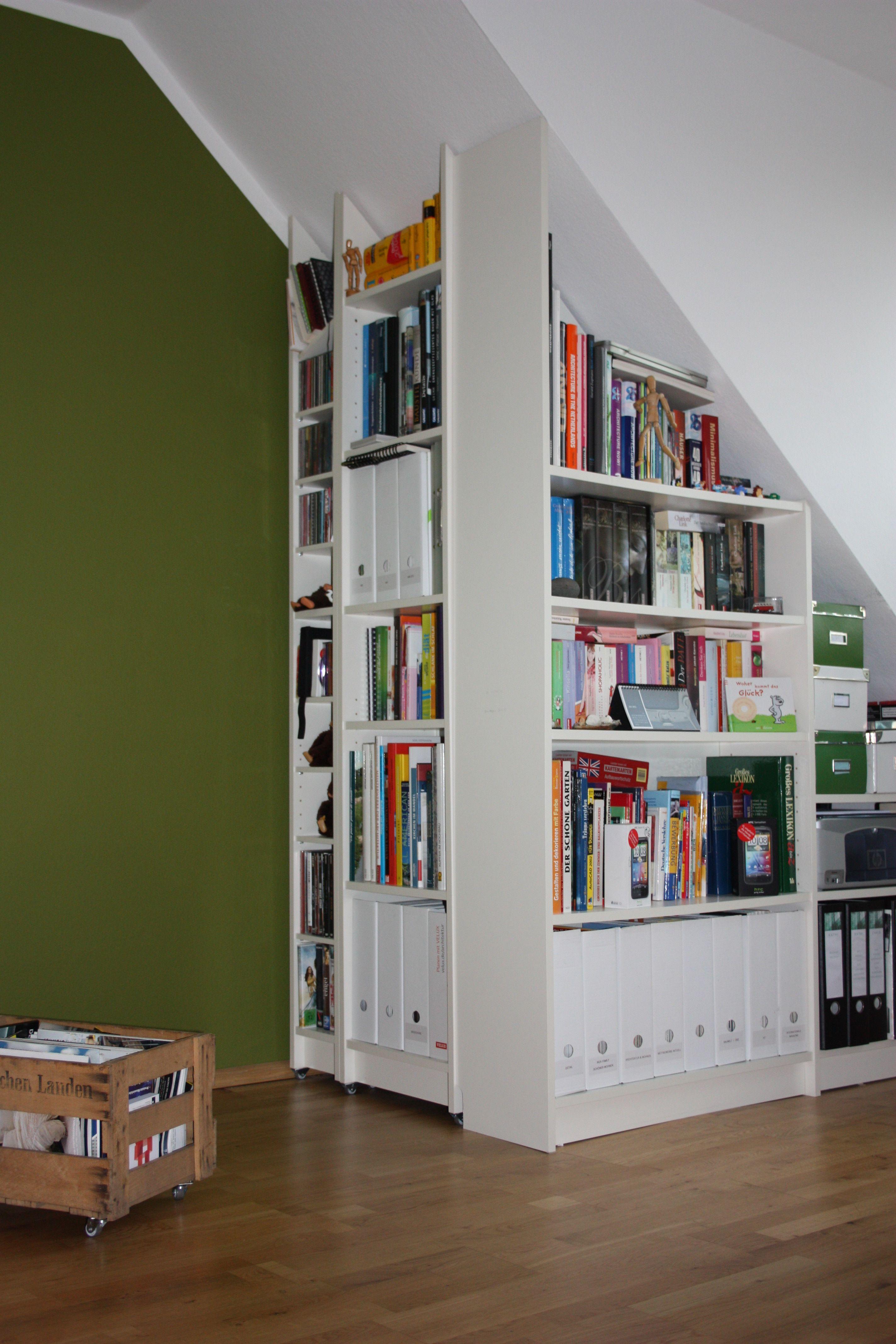 Superb Einfache Dekoration Und Mobel Die Heimbibliothek Mit Dem Gewissen Extra #3: Billy Regal Zugeschnitten