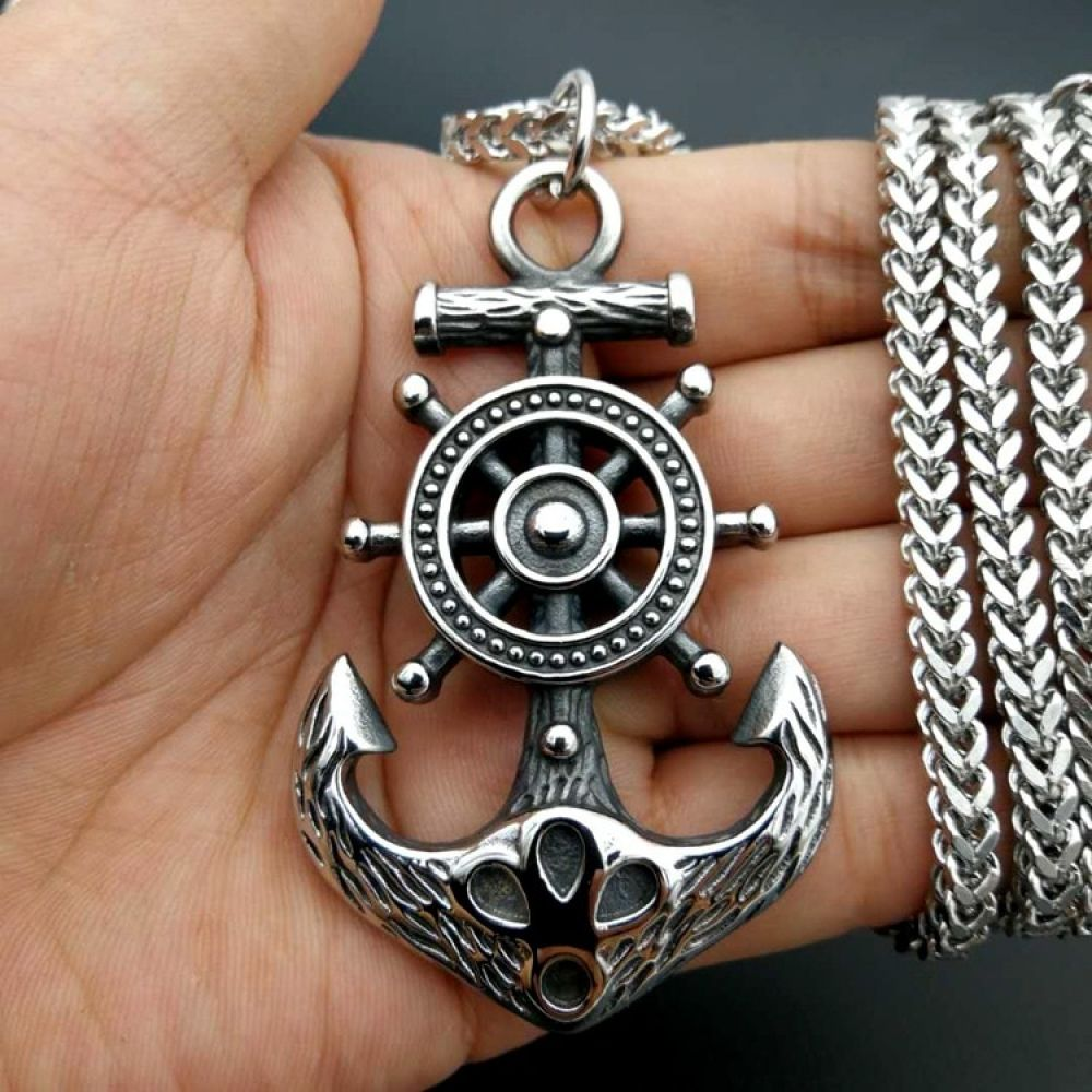 Mens necklace Welcome 20Mm Never Never Give Up Pendant Necklace Antique Silver Color Necklace