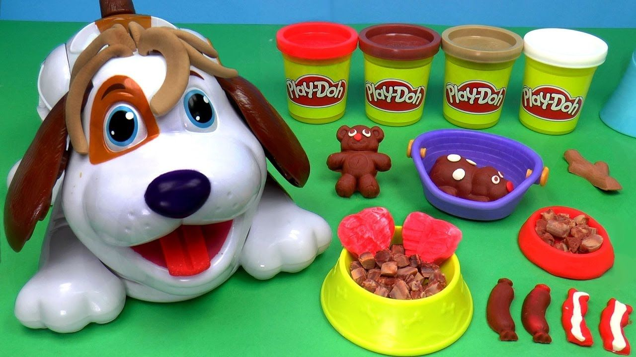 Kinder joy toys car  Play doh art for kids  How to Make Play Dough Dog  Play doh art