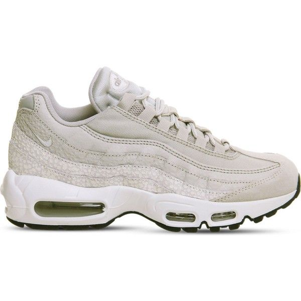 low priced e805a d1094 Nike Air Max 95 leather and mesh trainers ( 125) ❤ liked on Polyvore  featuring shoes, nike shoes, traction shoes, grip shoes, real leather shoes  and ...