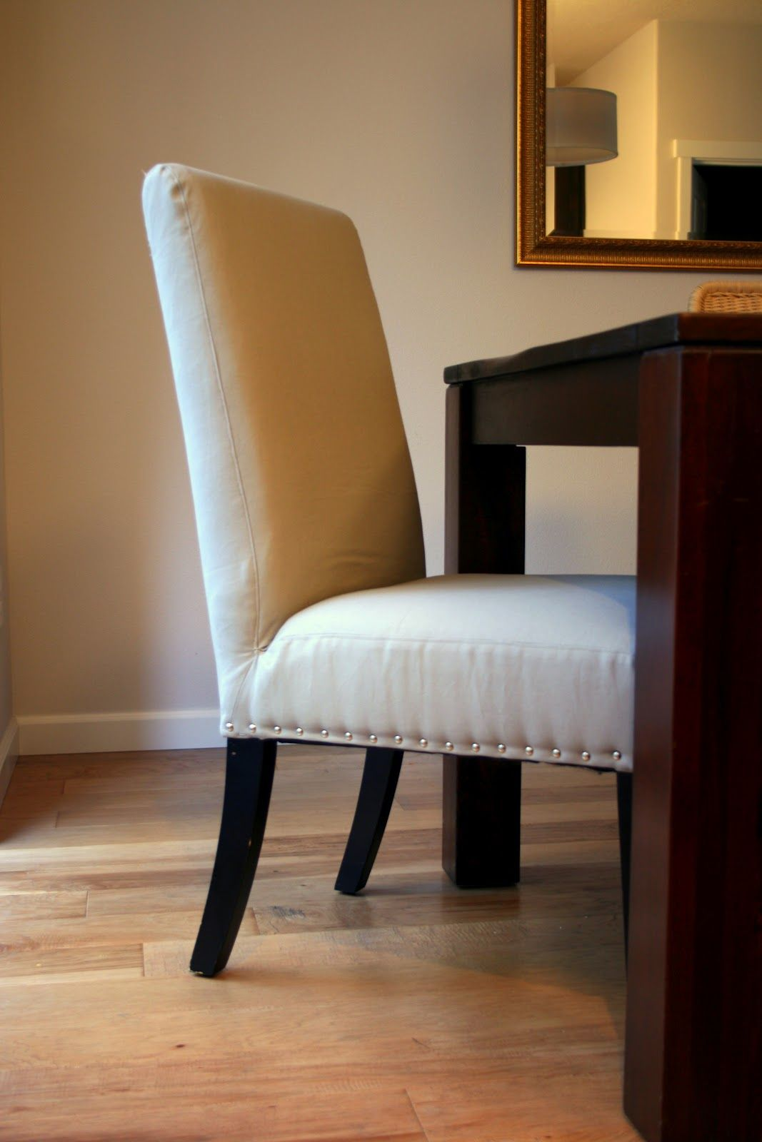 So Proud Of My Little Upholstery Project Nailhead Parsons Chairs Makeover Home