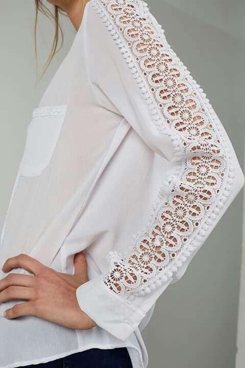 Pin de ROCIO CAMPOS en Verano | Pinterest | Blusas, Camisas y Costura