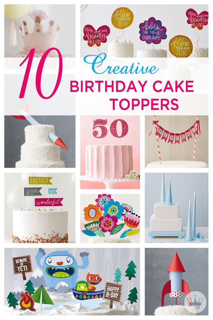 serve a slice of happy with these diy birthday cake toppers