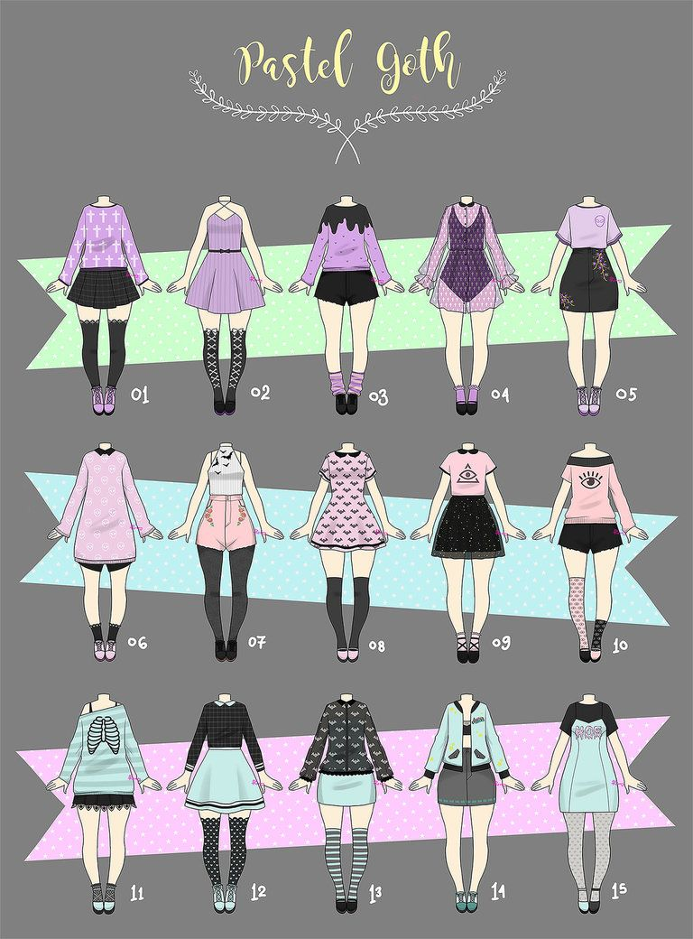 Pin by Tabea Blauensteiner on Drawing  Pastel goth outfits