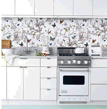Papel pintado en cocinas my kitchen papel pintado - Papel para paredes de cocina ...