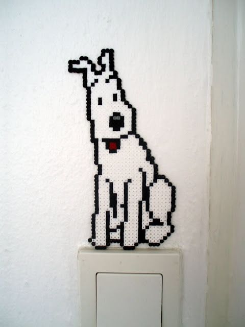 Perles hama : Tintin