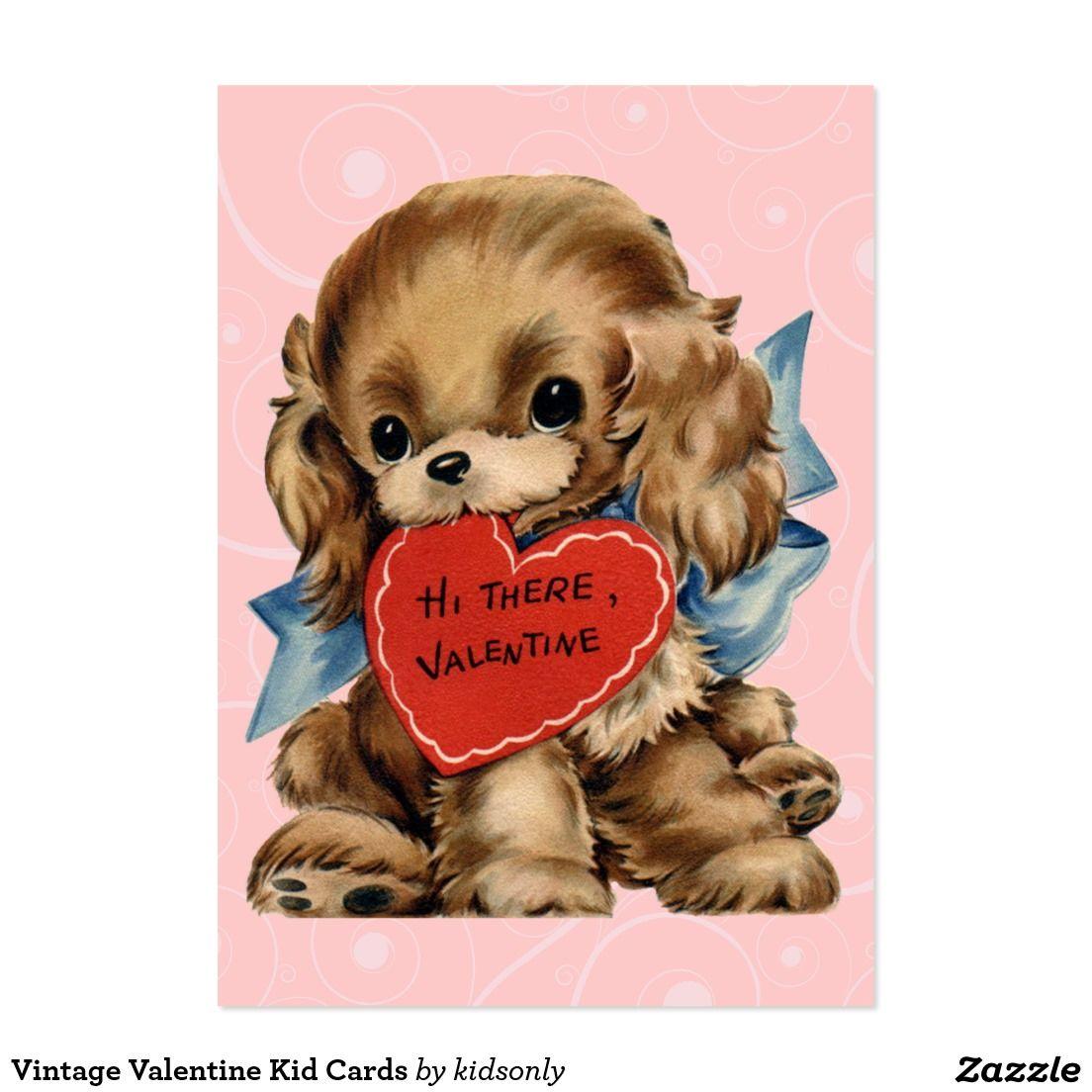 Vintage Valentine Kid Cards Puppy Valentines Vintage Valentines Retro Valentines