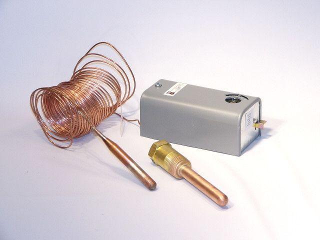 Trane CNT0428 20/80F SPST Temp Control With Well & Cap