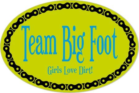 Just made this to give to my Big Foot teammates for Xmas. My Oval Sticker | MAKESTICKERS.COM